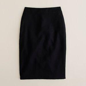 J. Crew black No. 2 pencil skirt